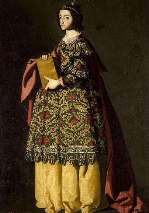Святая Матильда 1640-1650. Музей изящных искусств, Севилья